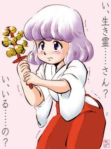 絶対可憐チルドレン・巫女な紫穂さん。